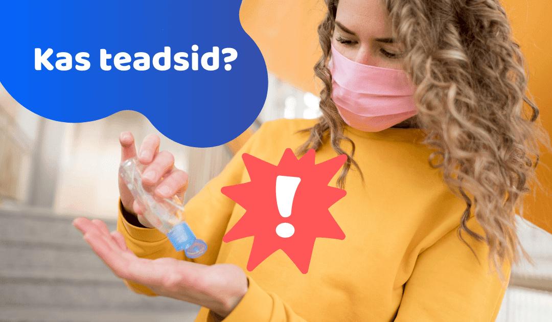 Kas teadsid, et liigse desinfitseerimise puhul muutuvad halvad bakterid tugevamaks!